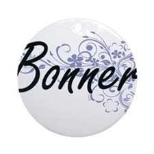 Bonner surname artistic design with Round Ornament