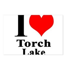 I heart Torch Lake Postcards (Package of 8)