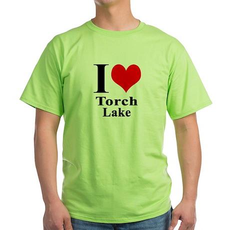 I heart Torch Lake Green T-Shirt