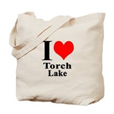 I heart Torch Lake Tote Bag
