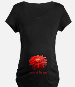 Cream of the Crop Red Zinnia Maternity T-Shirt