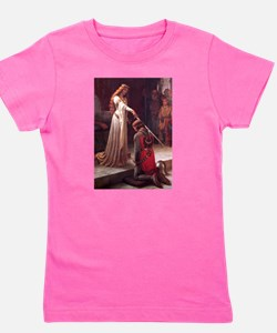 Cute Medieval knight Girl's Tee