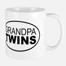 Left Handed Grandpa of Twins Mug