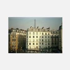 Paris Apartments and Eiffel T Rectangle Magnet