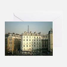 Paris Apartments and Eiffel T Greeting Card