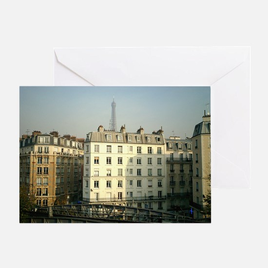 Paris Apartments and Eiffel T Greeting Card