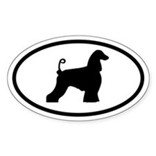 Afghan Hound Oval Bumper Stickers