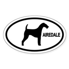 Airedale Oval Decal