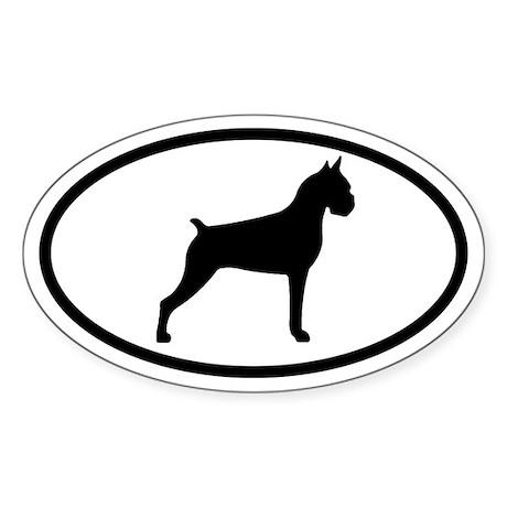 Boxer Oval Sticker