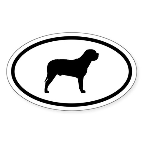 Bull Mastiff Oval Sticker