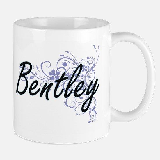 Bentley surname artistic design with Flowers Mugs