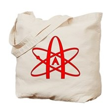 Cute Atheist symbol Tote Bag