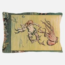 Mermaid and Octopus Pillow Case