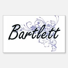 Bartlett surname artistic design with Flow Decal