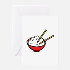 Bowl Of Rice Greeting Cards