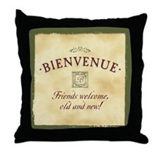 Bienvenue -- A French Welcome Throw Pillow
