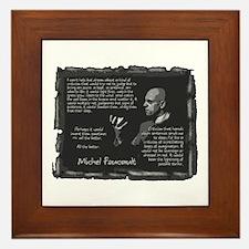 Foucault's Critique Framed Tile