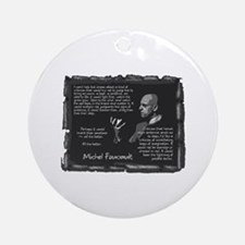Foucault's Critique Ornament (Round)