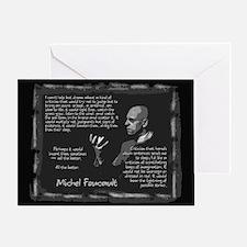 Foucault's Critique Greeting Card