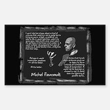 Foucault's Critique Rectangle Decal