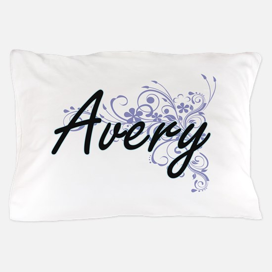 Avery surname artistic design with Flo Pillow Case