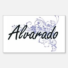 Alvarado surname artistic design with Flow Decal