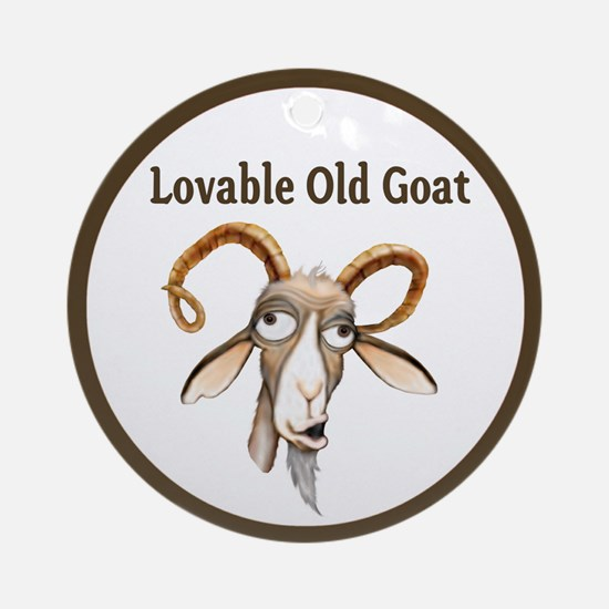 Old Goat Ornament (Round)