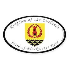 Blackwater Keep Oval Sticker