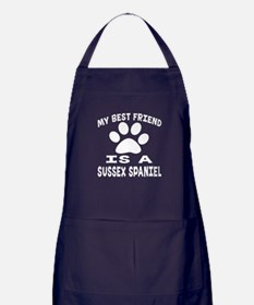 Sussex Spaniel Is My Best Friend Apron (dark)