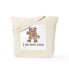 I Luv Moo Cows Tote Bag