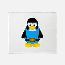 Tux penguin Throw Blanket