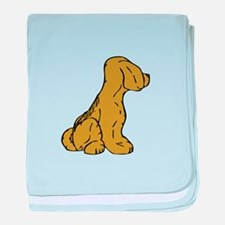 Dog From Other Side baby blanket