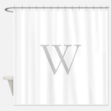 Elegant Monogram and Stripes Shower Curtain