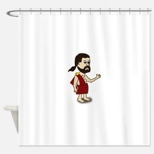 Comic Characters Toga Shower Curtain