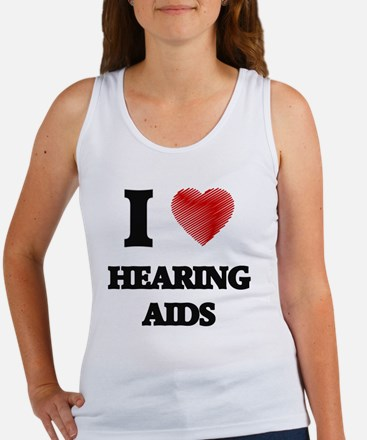 I love Hearing Aids Tank Top