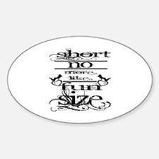 Cute Short girls Sticker (Oval)