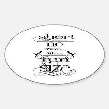 Cute Girls short Sticker (Oval)