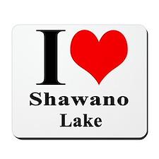 I heart Shawano Lake Mousepad