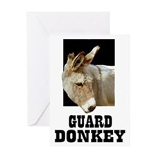 GUARD DONKEY Greeting Card
