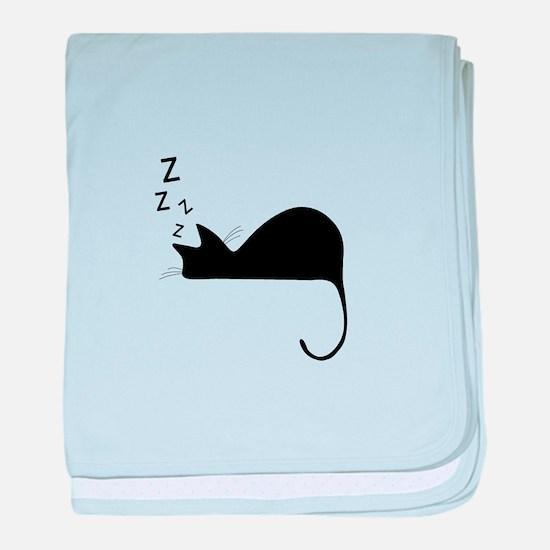 Sleeping Cat Nap Silhouette baby blanket