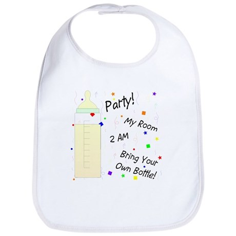 "Baby Bib - ""Party! My Room"""