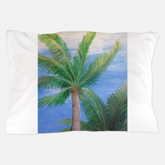 Palms Blowing in the Wind, Key West Pillow Case