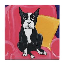 Boston Terrier THE LOOK! Tile Coaster