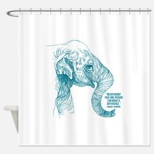 One Can Make A Difference Elephant Shower Curtain