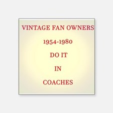 Vintage FAN Owners Sticker