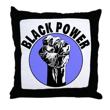 Black Power Throw Pillow