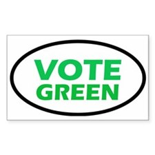 Vote Green Oval Decal