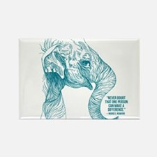 One Can Make a Difference Elephant Sketch Magnets