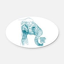One Can Make a Difference Elephant Sketch Oval Car