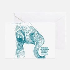 One Can Make a Difference Elephant Sketch Greeting